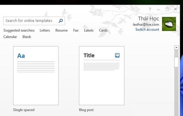 Viết Blog bằng Microsoft Word 2013