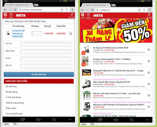 Mua sắm trên Mobile, bước chuyển biến mới của thương mại điện tử Việt Nam?