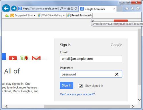Ngăn người khác xem trộm password lưu trên trình duyệt