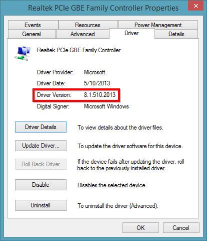 Cách kiểm tra phiên bản hiện tại của Driver máy tính