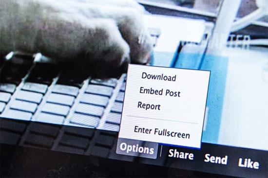 Facebook cho phép nhúng nội dung vào website khác