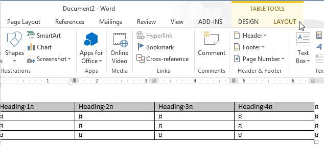 Cách thay đổi hướng của văn bản trong Word 2013