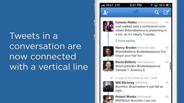 Twitter cập nhật hiển thị bình luận theo thứ tự thời gian