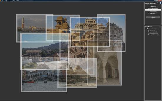Microsoft AutoCollage: nghệ thuật pha trộn hình ảnh