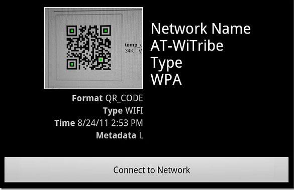 Kết nối Wifi bằng cách quét QR code