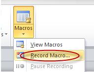 Tạo và sử dụng các macro tự động <span class=