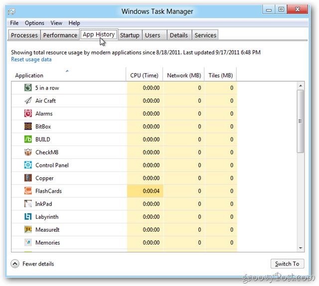 Trải nghiệm Task Manager hoàn toàn mới trong Windows 8