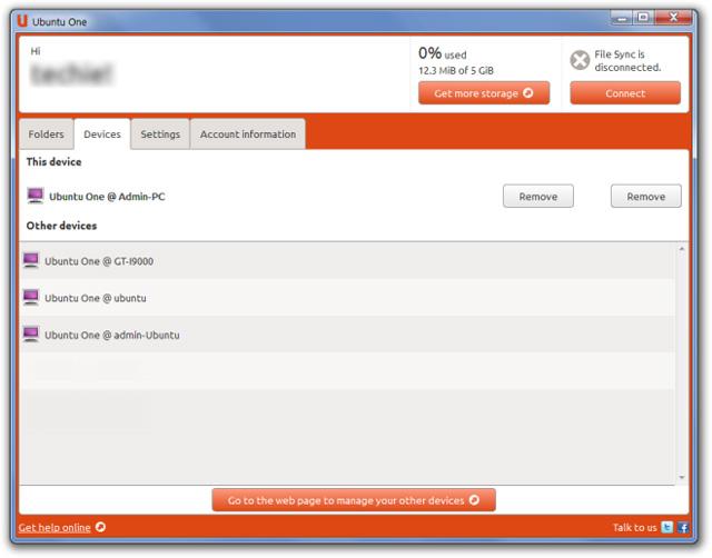 Ubuntu One: Dịch vụ lưu trữ đám mây đã có trên Windows