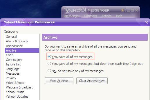 Xem nội dung chat trên Yahoo không cần mật khẩu