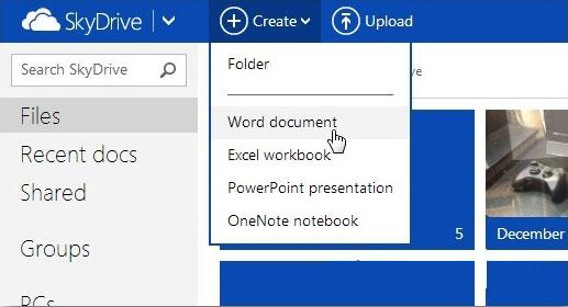 Tạo và chia sẻ tài liệu Office trên SkyDrive