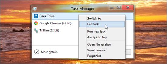 Thủ thuật với cửa sổ trong Windows 8