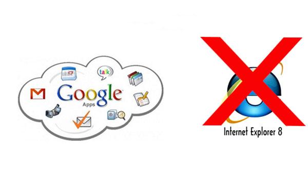 Google ngừng hỗ trợ IE8 từ ngày 15/11