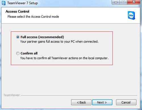 Giới hạn quyền điều khiển từ xa cho Teamviewer - Quantrimang com