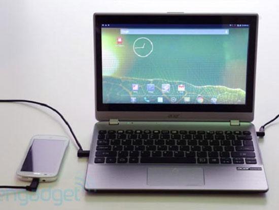 Acer Extend biến điện thoại thành laptop