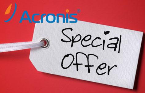 Giảm giá bộ phần mềm bảo vệ dữ liệu của Acronis