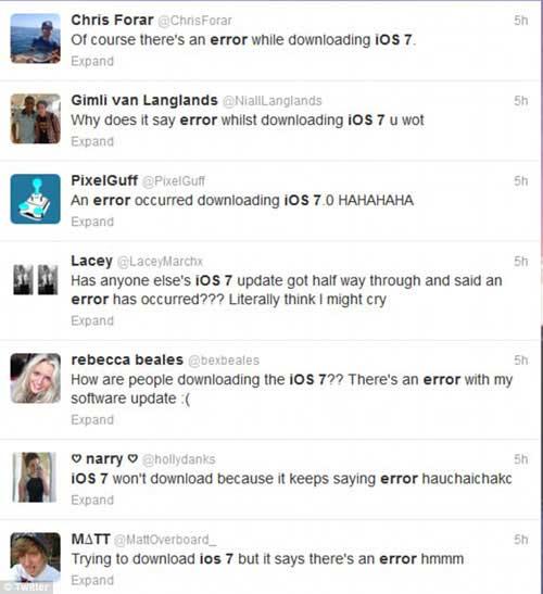 Phải làm gì nếu gặp sự cố khi cài đặt iOS 7?