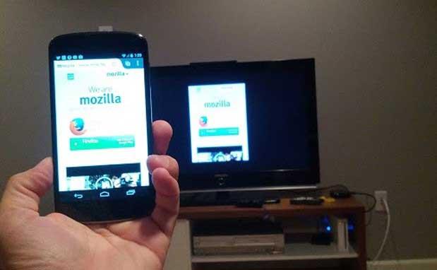Firefox có thể truyền nội dung web ra màn hình ngoài