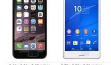 So sánh nhanh Apple iPhone 6 và Sony Xperia Z3