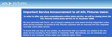 AOL ngưng cung cấp hàng loạt dịch vụ