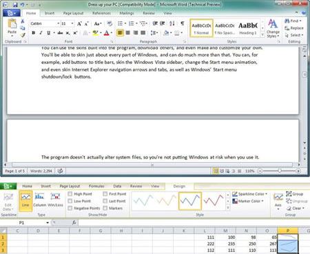 Microsoft công bố bản Office 2010 miễn phí Word-Excel-2010
