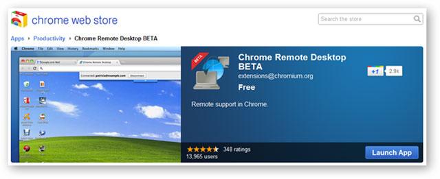 Điều khiển máy tính từ xa bằng trình duyệt web Chrome