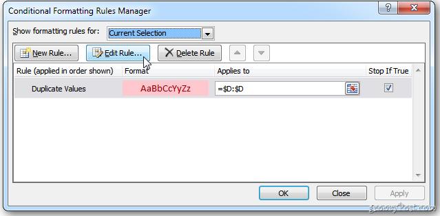 Thay màu giữa các dòng khác nhau trong Microsoft Excel