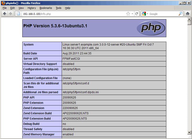 Cài đặt Nginx với PHP5, PHP-FPM và hỗ trợ MySQL trên Ubuntu 11.10