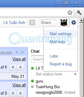 Kết hợp tài khoản email khác với Google Apps trong Gmail
