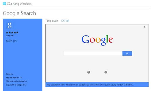 """Google """"nhanh tay"""" ra phần mềm cho Windows 8"""