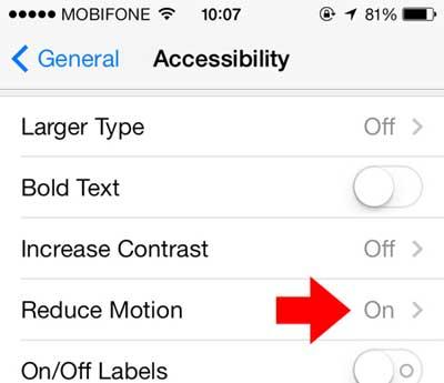 Những tính năng có thể tắt để tăng thời lượng pin trên iOS 7