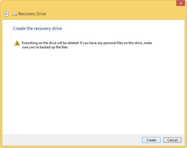 Tạo USB Recovery trong Windows 8.1