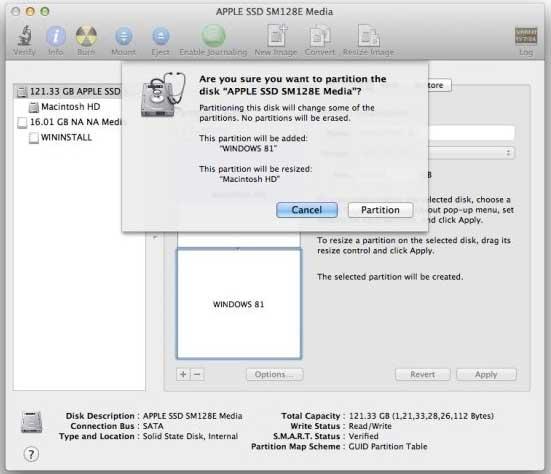 Hướng dẫn cài đặt Windows 8.1 trên Mac