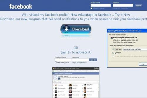 Giả mạo Facebook để lấy cắp thông tin cá nhân