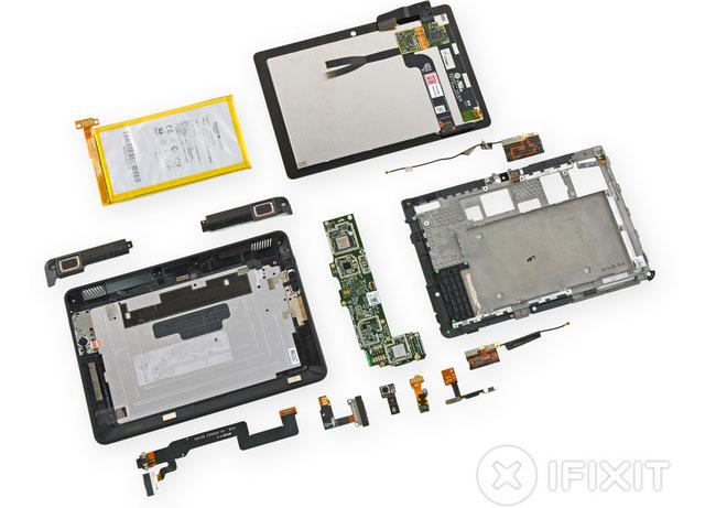 Tablet Kindle Fire HDX rất khó sửa chữa