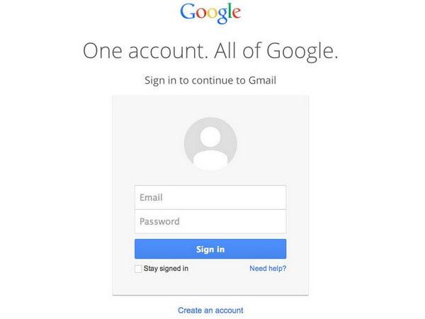 Google thay đổi giao diện mới trang đăng nhập Gmail