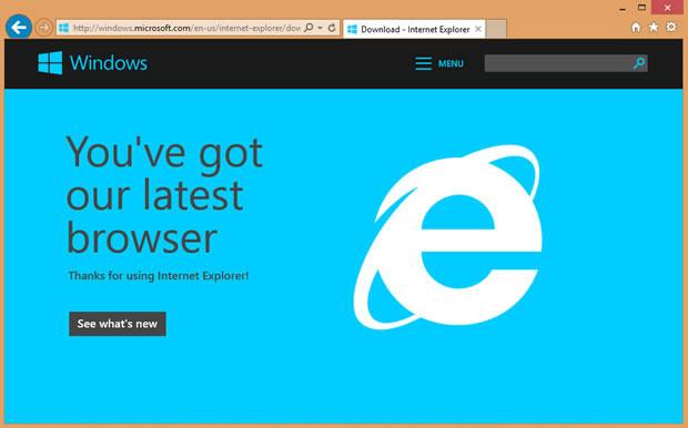 Microsoft tung bản vá cho IE 11 trên Windows 8.1