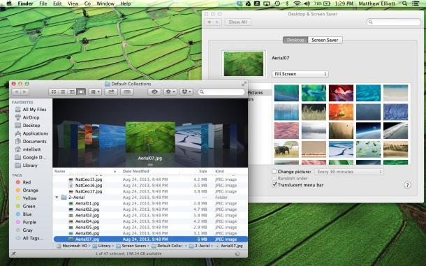 """Cách truy cập vào hơn 40 ảnh nền """"bí mật"""" trên OS X Mavericks"""