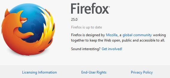 Mozilla chính thức trình làng Firefox 25