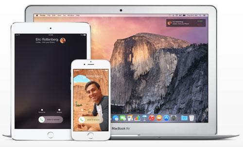 Gọi điện thoại trên iPhone bằng iPad, MacBook