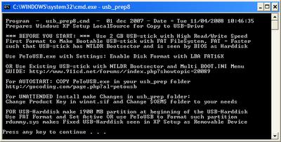 step8 Hướng dẫn cài đặt Windows XP từ ổ USB Flash