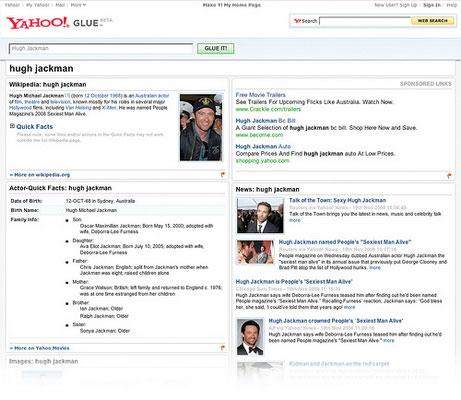 Yahoo! thử nghiệm phiên bản tìm kiếm Glue