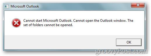 Khắc phục lỗi Outlook 2010 không thể khởi động