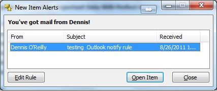 Chặn người gửi, thêm thông báo email mới trong Outlook, Thunderbird