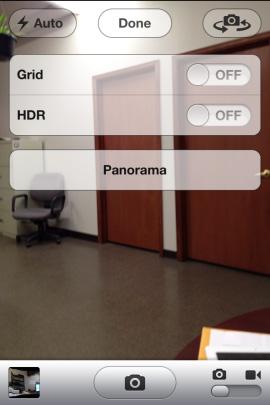 Kích hoạt chế độ camera Panorama trong iOS 5