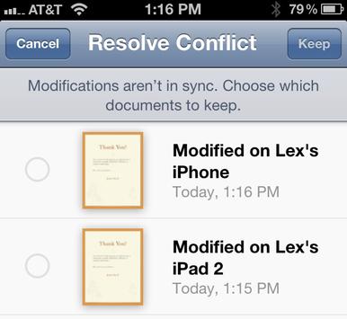 Sử dụng iCloud với iWork trên thiết bị iOS