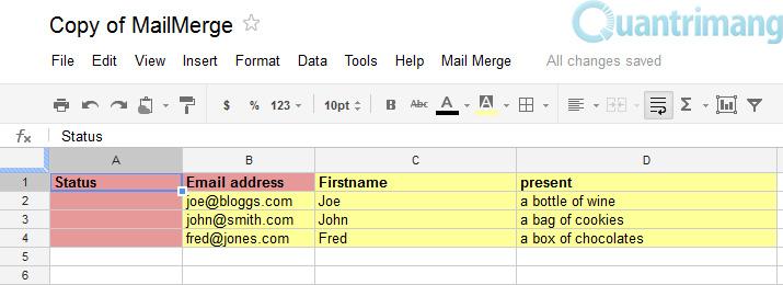 Tùy chỉnh các thư hàng loạt trong Gmail
