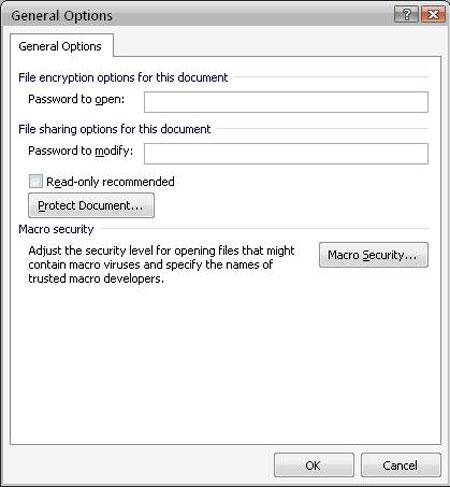 Các bước đơn giản để đặt mật khẩu cho tài liệu văn bản