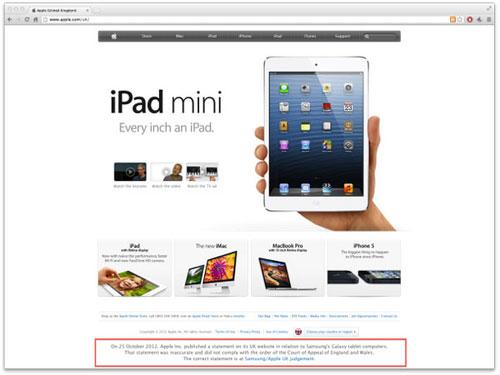 Apple bị tố 'giấu nhẹm' lời xin lỗi Samsung trên website