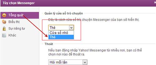 Tùy chỉnh hiển thị hộp thoại trò chuyện Yahoo 11