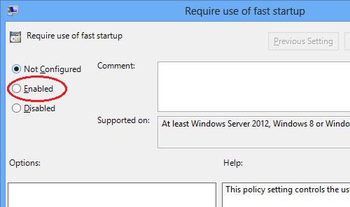 Vô hiệu tùy chọn Fast Startup trên Windows 8
